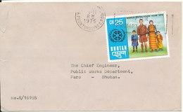 Bhutan Cover 1-11-1975 Single Franked - Bhutan