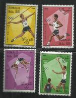 SOMALIA 1968 MEXICO SUMMER OLYMPIC GAMES GIOCHI OLIMPICI COMPLETE SET SERIE COMPLETA MNH POST AFIS - Somalia (1960-...)