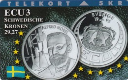 Denmark, TP 100B, ECU-Sweden, Mint Only 1200 Issued, Coins, Notes, Flag, 2 Scans. - Denmark