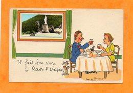 CPA -RAON-l'ETAPE (88) -Carte De L'illustrateur Jean De Preissac Avec Petite Photo Encartée De 1960 - Il Fait Bon Vivre - Raon L'Etape