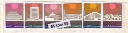 1972 ARCHITECTURE - Hotels 6v.- Used/oblit.(O)  Bulgaria / Bulgarie - Gebraucht