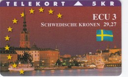 Denmark, TP 106, Ecu Series - Sweden, Castle, Flag, Only 1500 Issued. - Denmark