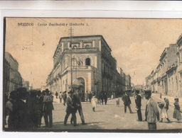 Brindisi_Corso Garibaldi E Umberto I°- Vg Il Lunedì 2-4-1919-Integra E Originale 100%an1 - Brindisi
