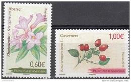 Andorre Français 2011 Yvert 713 - 714 Neuf ** Cote (2015) 5.30 Euro Fleurs - Andorre Français