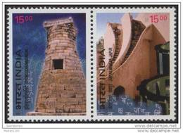 INDIA, 2003, Anniversary Of Diplomatic Relations Between India And South Korea, (Observatories),MNH, (**) - Nuovi
