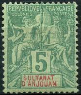Anjouan (1892) N 4 * (charniere) - Ongebruikt