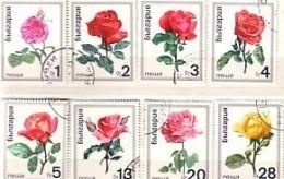 1970 Flora FLOWERS - ROSES 8v.- Used / Oblitere (O) BULGARIA / Bulgarie - Gebraucht
