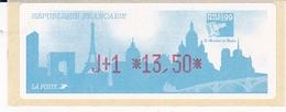 TIMBRE DE DISTRIBUTEUR 1999 PHILEXFRANCE 1999 EXPOSITION INTERNATIONALE MONDIAL DU TIMBRE N° 261 J+1 13.50F - 1999-2009 Vignettes Illustrées