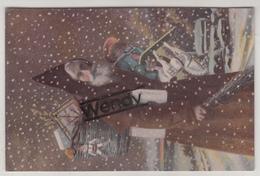 6 Cartes Glacées/6 Kaarten Glanzend Serie 875 - Père Noël/Sancta Claus/Kerstman - Santa Claus