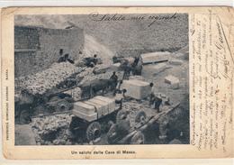 Un Saluto Dalle Cave Di Massa-Marmo- Vg Il  2-4-1903-Integra E Originale 100%an1 - Massa