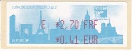 TIMBRE DE DISTRIBUTEUR 1999 PHILEXFRANCE EXPOSITION INTERNATIONALE MONDIAL DU TIMBRE N° 249  2.70F/0.41 EUROS + VIGNETTE - 1999-2009 Vignettes Illustrées