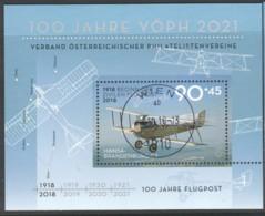 "Östereich 2018: Block ""100 Jahre Flugpost"" Gestempelt - 1945-.... 2. Republik"
