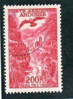 ANDORRE FR. 1955-7 O - Poste Aérienne