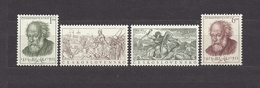 Czechoslovakia 1952 MNH ** Mi 755-756, 772-773 Sc 546-547, 562-563 Mikolas Ales. - Unused Stamps