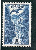 ANDORRE FR. 1955-7 O DEFECTEUX - Poste Aérienne
