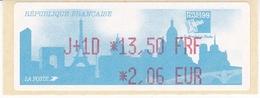 TIMBRE DE DISTRIBUTEUR 1999 PHILEXFRANCE EXPOSITION INTERNATIONALE MONDIAL DU TIMBRE N° 252  1.50F/2.06 EUROS + VIGNETTE - 1999-2009 Vignettes Illustrées