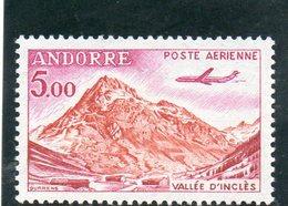 ANDORRE FR. 1961-4 ** - Poste Aérienne