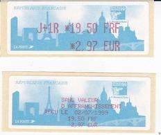 TIMBRE DE DISTRIBUTEUR 1999 PHILEXFRANCE EXPOSITION INTERNATIONALE MONDIAL DU TIMBRE N° 253  19.50F/2.97 EURO + VIGNETTE - 1999-2009 Vignettes Illustrées