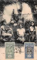 CPA TAHITI - Indigènes Avec Fruits - Tahiti