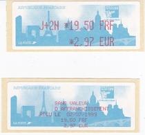 TIMBRE DE DISTRIBUTEUR 1999 PHILEXFRANCE EXPOSITION INTERNATIONALE MONDIAL DU TIMBRE N° 254  19.50F/2.97 EURO + VIGNETTE - 1999-2009 Vignettes Illustrées