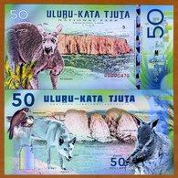 Australia, Uluṟu-Kata Tjuṯa National Park, 50 Dollars, Polymer, 2018 - Kangaroo - Billets