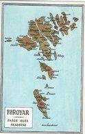 Faroe Islands - Føroyar. Map. Used Torshavn 1972.  S-4371 - Maps