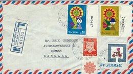 Israel - Registered Cover Sent To Denmark. H-1271 - Poste Aérienne