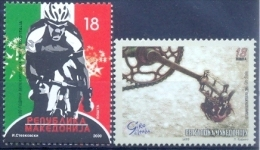 MK 2009-513-4 100A°GIRO D'ITALIA, MACEDONIA, 2 X 2v, MNH - Ciclismo