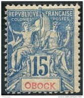 Obock (1892) N 37 * (charniere) - Unused Stamps