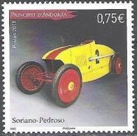 Andorre Français 2011 Yvert 710 Neuf ** Cote (2015) 2.80 Euro Soriano-Pedroso Voiture De Course - Andorre Français