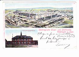 VÖLKLINGEN (Allemagne) Röchling'sche Eisen, Usine Sidérurgique, Hauts Fourneaux, Ed. Adolf Klee 1902 - Autres