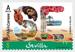Spain 2018 - 12 Months, 12 Stamps - Seville Mnh - 2011-... Gebraucht