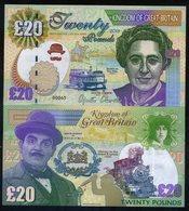 Great Britain 20 Pounds, 2018, Agatha Christie, Hercule Poirot, Orient Express - Billets