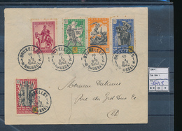 BELGIUM COB E22/25 NICE COVER FROM BRUXELLES 10.01.42 TO BXL - Commemorative Labels