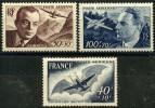 France PA (1947) N 21 à 23 * (charniere) - Poste Aérienne