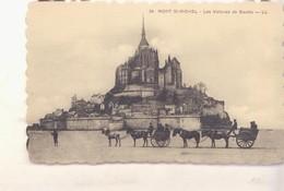 CPA -  34. MONT ST MICHEL Les Voiture De Genêts - Le Mont Saint Michel