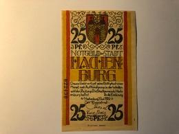 Allemagne Notgeld Hachenburg 25 Pfennig - [ 3] 1918-1933 : République De Weimar