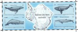 TAAF BLOC FEUILLET N° 25** BALEINES DES MERS AUSTRALES. Très Beau. - Blocs-feuillets