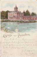 Gruss Aus Postdam Germany, Busy Marmor Palais, Hold To Light C1890s Vintage Postcard - Hold To Light