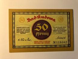 Allemagne Notgeld Kudowa  50 Pfennig - [ 3] 1918-1933 : République De Weimar