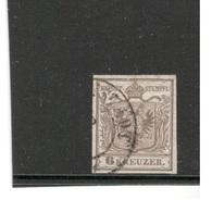 AUSTRIA1850:Michel 4 Ia(handpaper) Signed On Back By Ferchenbauer - Gebraucht