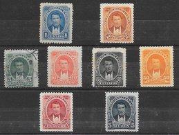 Equateur N°30 à 37 8 Tp 1894 * & (*) - Ecuador