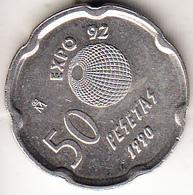 ESPAÑA 1992  50 PESETAS EXPO '92.SEVILLA.LA CARTUJA  SIN CIRCULAR. . CN 4387 - [ 5] 1949-… : Royaume