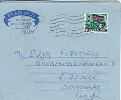 Kenya -Airletter - Aerogramme. Sent To Denmark 1965.  S-4489 - Kenya (1963-...)