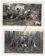 CHASSE En 1957-forêt D'Avaise- 2 Photos - Foto's