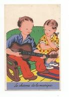 Enfant Jouant De La Guitare Fillette - Le Charme De La Musique - Enfants