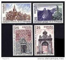 ESPAÑA 1991 - PATRIMONIO MUNDIAL DE LA HUMANIDAD  - Edifil Nº 3146-3149 - Yvert 2754-2757 - 1931-Hoy: 2ª República - ... Juan Carlos I
