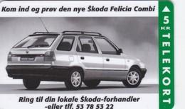 Denmark, FP 038, Skoda Felicia Combi,  Mint 5 Kr, Only 3.500 Issued, Car, 2 Scans - Dänemark