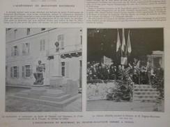 1913 Inauguration à VESOUL    Buste De GEROME   Par Carpeaux - Vesoul