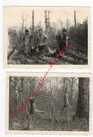 CHASSE En 1960-forêt D'Avaise-prise Chevreuils-2 Photos Format 12,2 X 8,8cm Chaque - Foto's